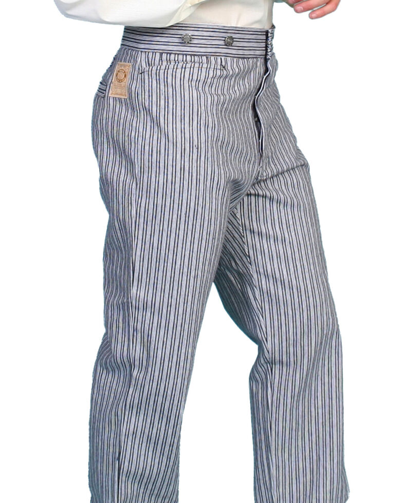 Wahmaker by Scully Railhead Stripe Pants, Black, hi-res