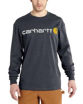 Carhartt Signature Logo Sleeve Knit T-Shirt, Grey, hi-res