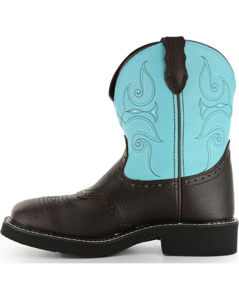 """Justin Women's 8"""" Gypsy Western Boots - Square Toe, Brown, hi-res"""
