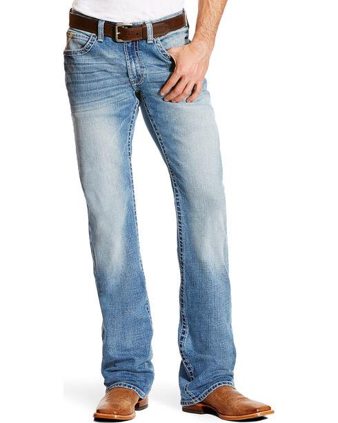 Ariat Men's M5 Blake Slim Low Rise Jeans - Boot Cut, Indigo, hi-res
