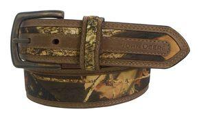 John Deere Crazyhorse Leather Real Tree Camo Belt, Camouflage, hi-res