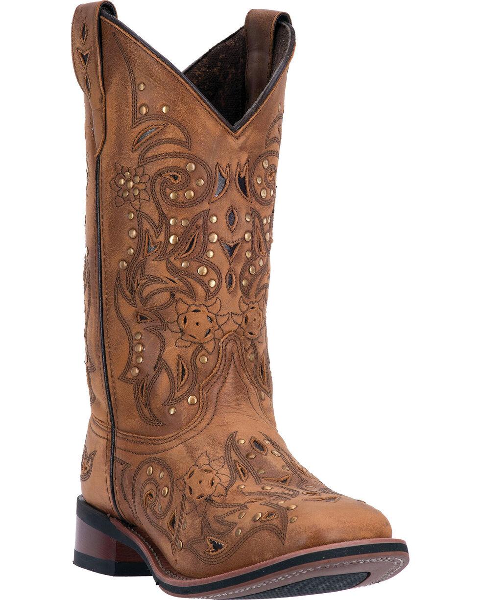 Laredo Tan Janie Western Boots - Square Toe , Tan, hi-res