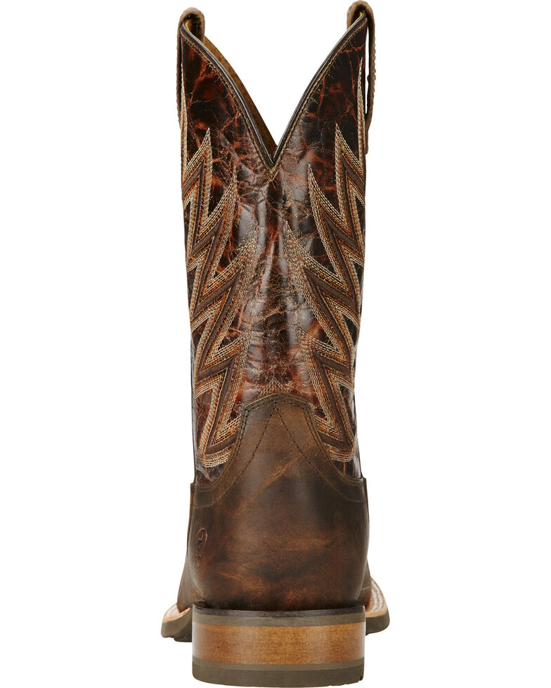 Ariat Challenger Branding Iron Brown Cowboy Boots - Square Toe, Brown, hi-res