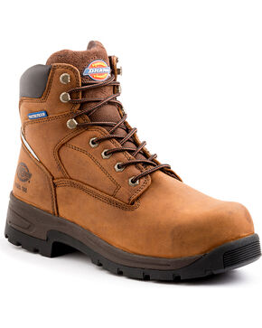 Dickies Men's Brown Stryker Work Boots - Steel Toe , Brown, hi-res