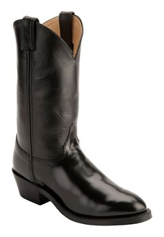 Justin Uniform Western Boots - Round Toe, Black, hi-res