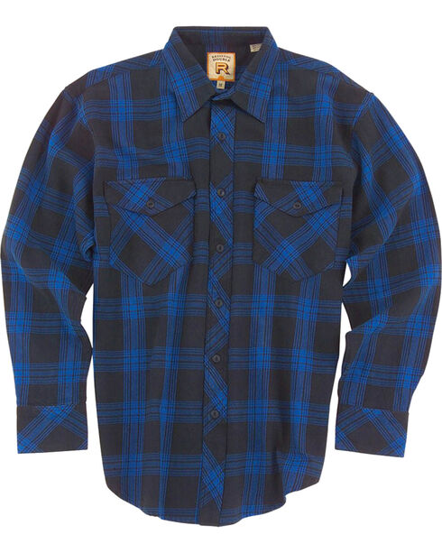 Resistol Men's Blue Marshallville Plaid Long Sleeve Shirt , Blue, hi-res