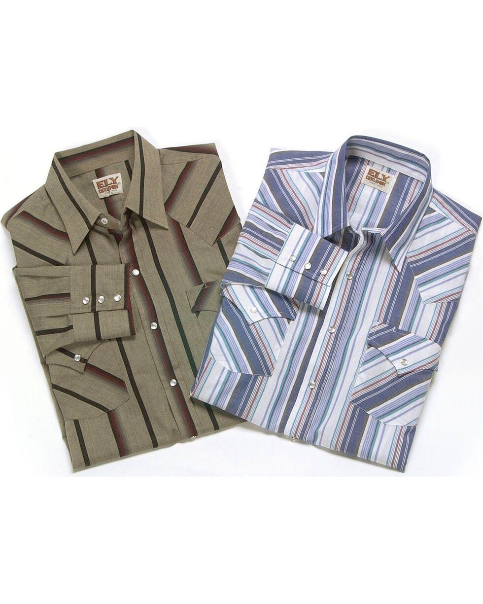 Ely Assorted Long Sleeve Western Shirt - Big, Tall, Big/Tall, Stripe, hi-res