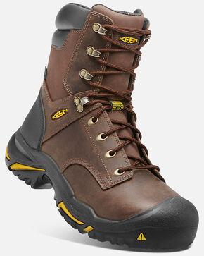 Keen Men's Mt. Vernon Waterproof Work Boots - Steel Toe, Brown, hi-res