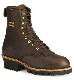 "Chippewa Waterproof Insulated 8"" Logger Boots - Steel Toe, Briar, hi-res"