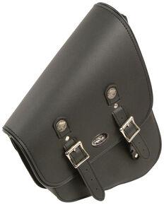 Milwaukee Leather Left Side Tall Slanted Swing Arm Bag, Black, hi-res