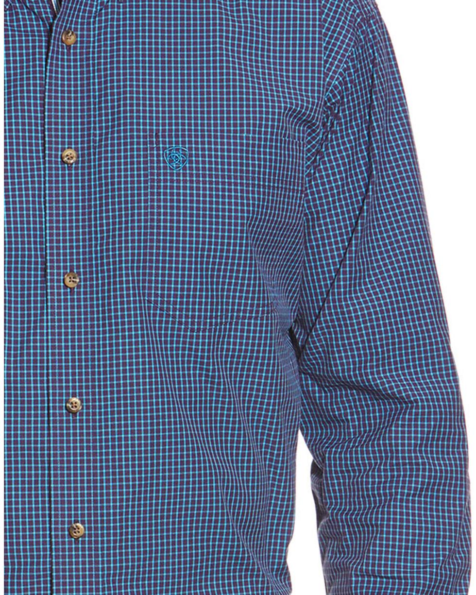 Ariat Men's Orson Long Sleeve Performance Shirt, Purple, hi-res
