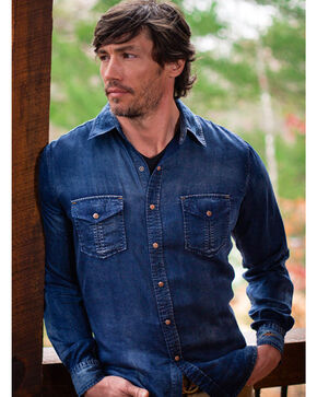 Ryan Michael Men's Indigo Tencel Shirt , Indigo, hi-res