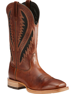 Ariat Men's Brown Quickdraw VentTEK Vintage Boots - Square Toe , Brown, hi-res