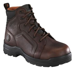 "Rockport Women's More Energy Brown 6"" Lace-Up Work Boots - Composite Toe, Brown, hi-res"