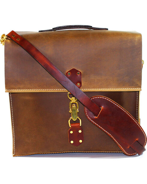 SouthLife Supply Aged Bourbon Messenger Bag, Brown, hi-res