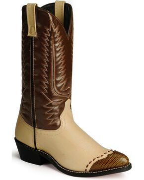 Laredo Lizard Print Wingtip Cowboy Boots, , hi-res