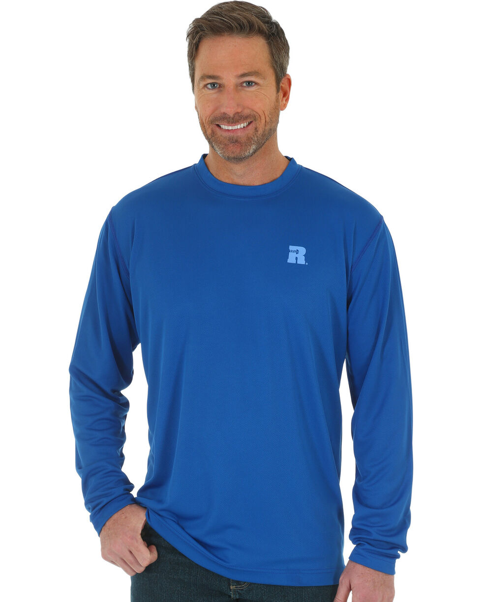Wrangler Men's Blue RIGGS Performance Crew Tee, Blue, hi-res
