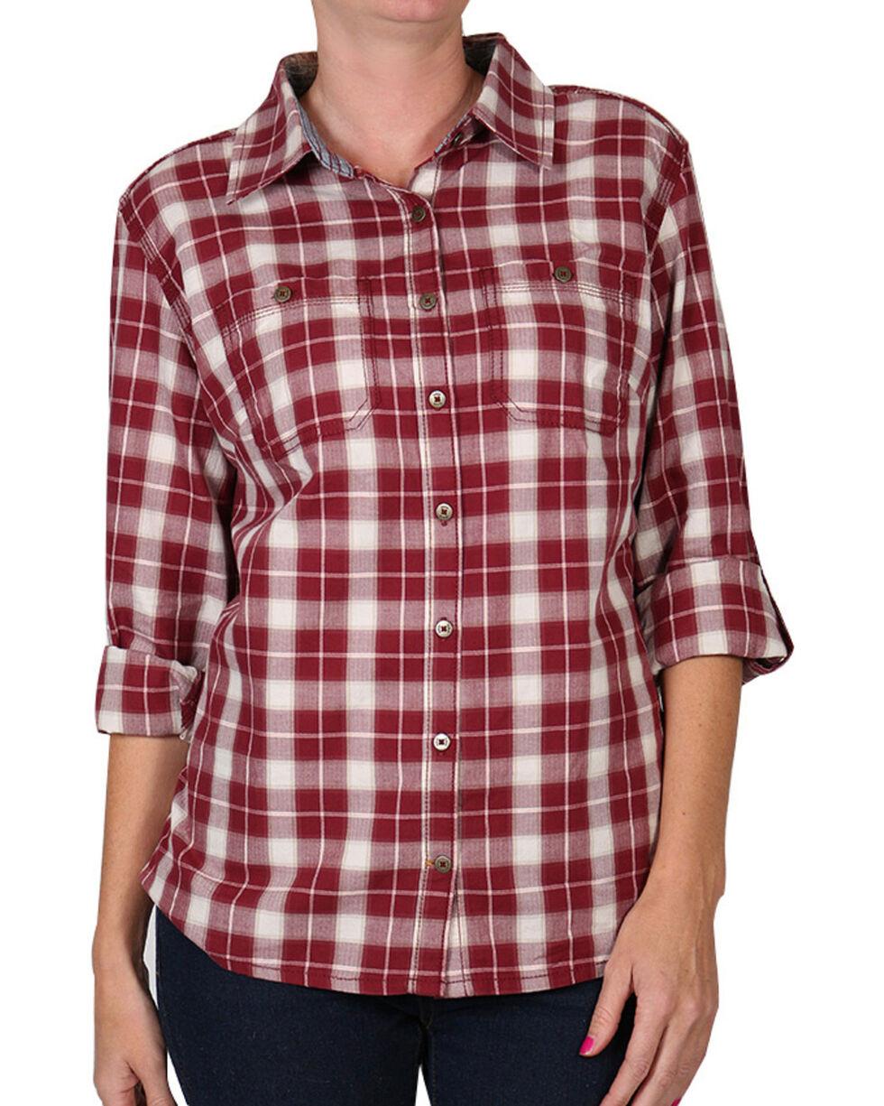 Carhartt Women's Dodson Long Sleeve Shirt, Burgundy, hi-res