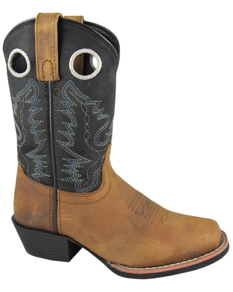 Smoky Mountain Youth Boys' Mesa Western Boots - Square Toe, Brown, hi-res