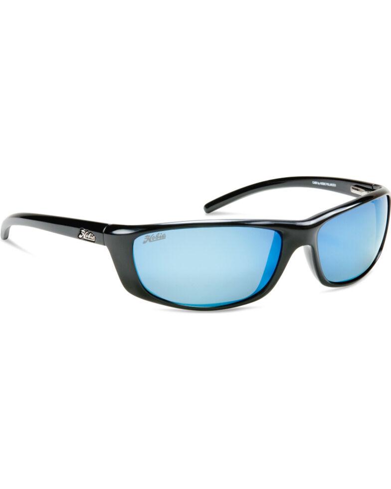 Hobie Men's Shiny Black Polarized Cabo Sunglasses, Black, hi-res