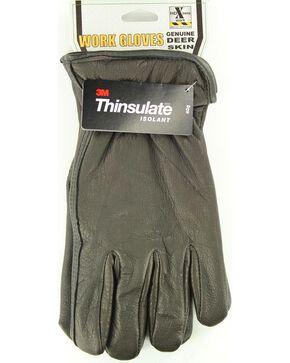 HD Xtreme Fleece Lined Deerskin Gloves, Black, hi-res