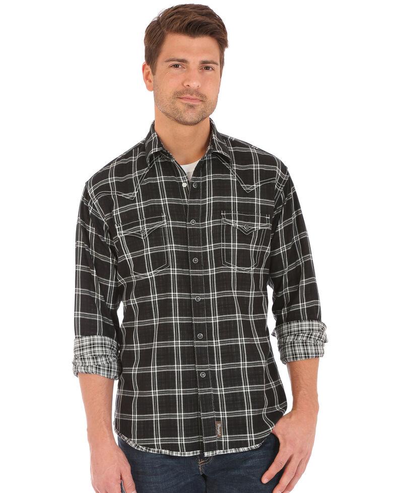 Wrangler Retro Men's Double-Faced Plaid Long Sleeve Western Shirt , , hi-res
