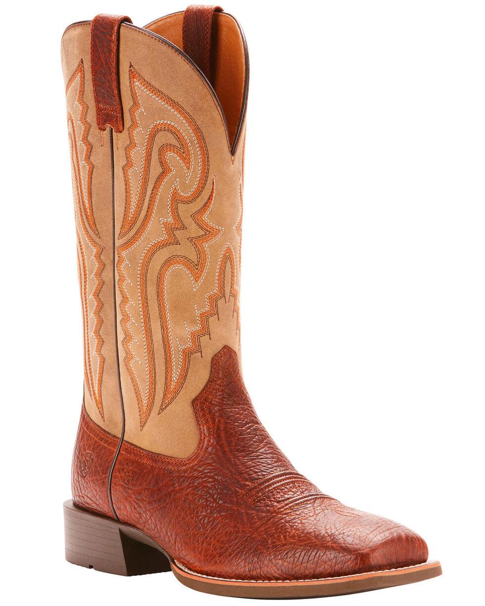 Ariat Men's Cognac Heritage Latigo Western Boots - Broad Square Toe , Cognac, hi-res