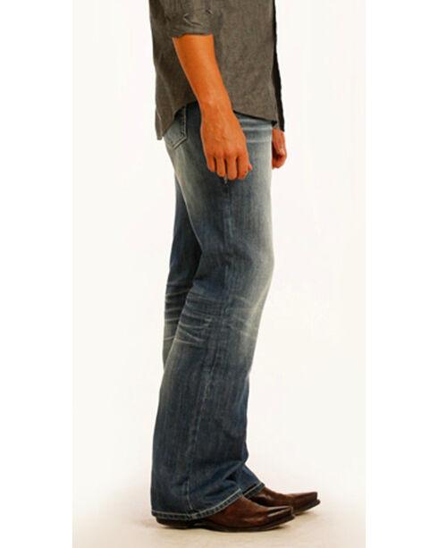 """Rock & Roll Cowboy Men's Small """"V"""" Double Barrel Jeans - Boot Cut , Indigo, hi-res"""