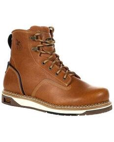 Georgia Boot Men's AMP LT Wedge Work Boots - Steel Toe, Lt Brown, hi-res