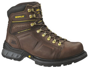 "Caterpillar Endure 6"" Work Boots - Steel Toe, Oak, hi-res"