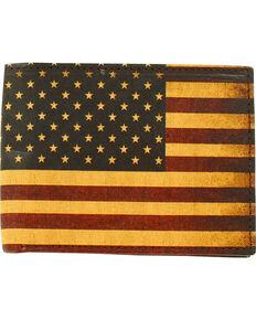 Nocona Vintage USA Flag Bifold Wallet, Red/white/blue, hi-res