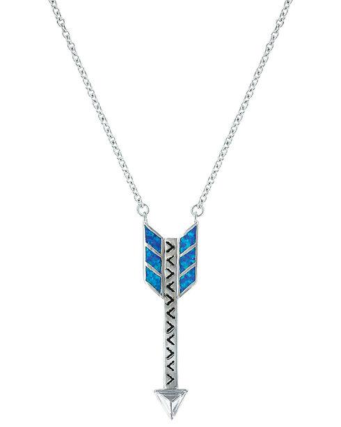 Montana Silversmiths Women's Sky Fletched Arrow  Necklace , Silver, hi-res