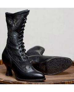 Oak Tree Farms Jennie Black Boots - Pointed Toe, Black, hi-res