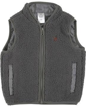 Wrangler Infant Boys' Grey Sherpa Vest , Grey, hi-res