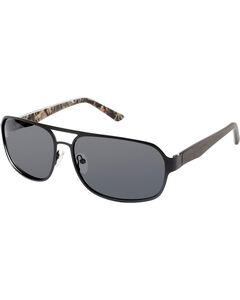 Realtree Men's Black Xtra® Camo Aviator Polarized Sunglasses , Black, hi-res