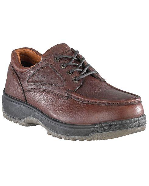 Florsheim Women's Compadre Oxford Work Shoes - Steel Toe, Brown, hi-res
