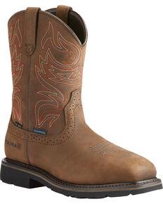 Ariat Men's Brown Sierra Delta H20 Work Boots - Steel Toe , Brown, hi-res