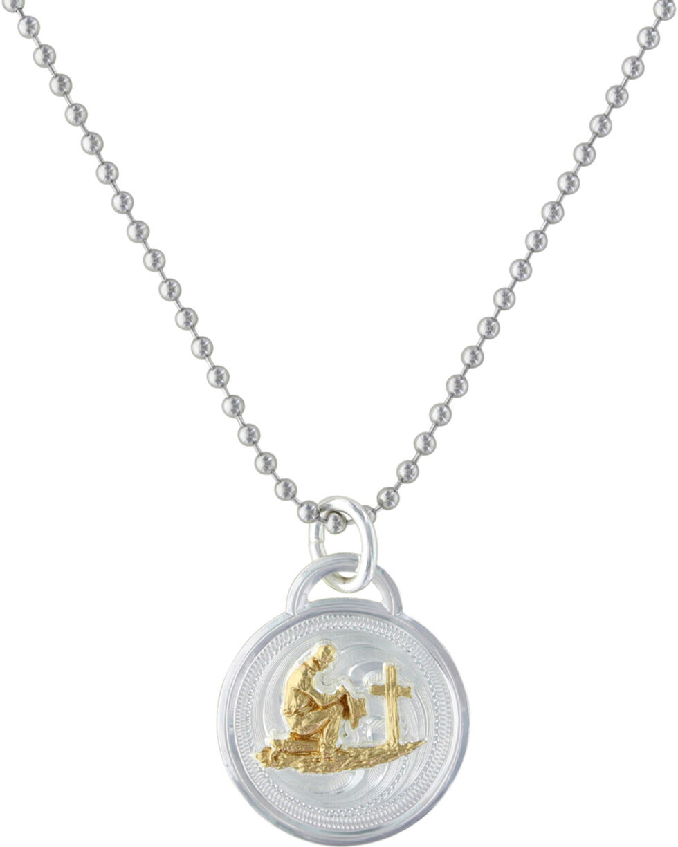 Montana Silversmiths Western Medallion Cowboy Necklace, Multi, hi-res