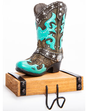 BB Ranch Turquoise Boot Stocking Hook, Turquoise, hi-res