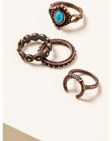 Shyanne Women's Willow Moon Multi Ring Set , Rust Copper, hi-res