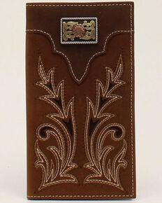 Nocona Men's Boot Stitch Concho Rodeo Wallet, No Color, hi-res