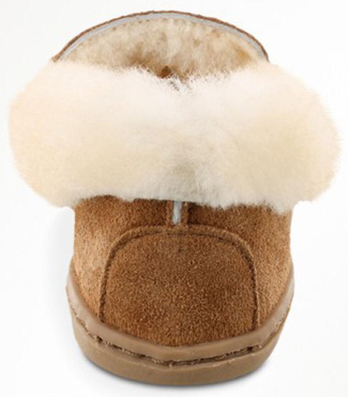 Minnetonka Women's Alpine Sheepskin Moccasins, Tan, hi-res