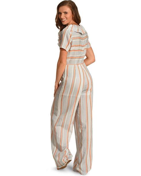 Polagram Women's Peach Ruffle Jumper , Peach, hi-res