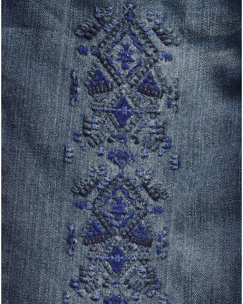 fd562c83 Zoomed Image Wrangler Women's Embroidered Tribal Print Skinny Jeans ,  Indigo, hi-res