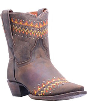 Dan Post Women's Brown Autumn Cowgirl Boots - Snip Toe , Brown, hi-res