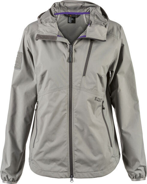 5.11 Tactical Women's Cascadia Windbreaker Jacket, Slate, hi-res