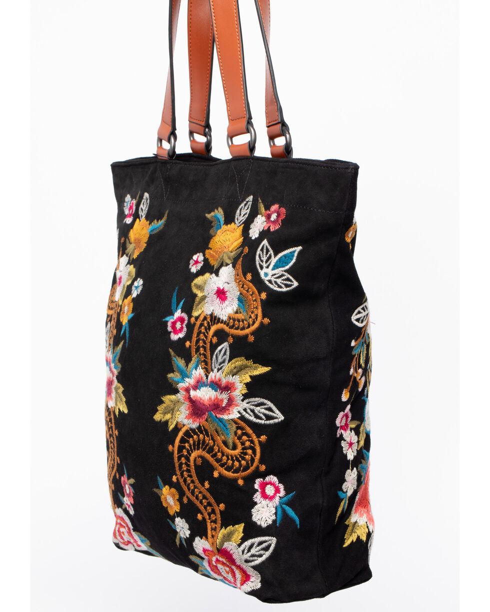 Johnny Was Women's Esmeralda Suede Bag , , hi-res