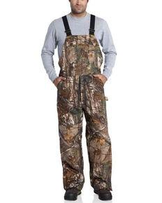 Carhartt Men's Mossy Oak Camo Quilt-Lined Duck Bib Overalls, Camouflage, hi-res