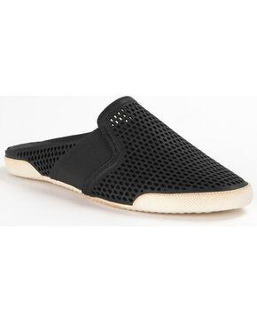 Frye Women's Melanie Gore Perf Mule Shoes , Black, hi-res