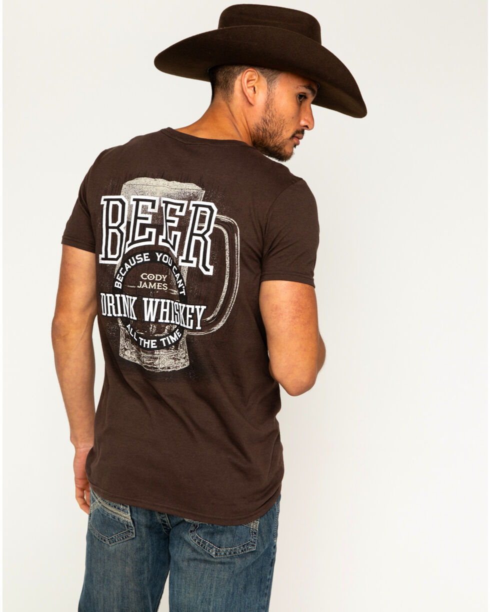 Cody James Men's Can't Drink Whiskey Tee, Brown, hi-res